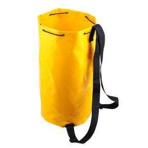 otwarty podłużny worek z żółtego materiału plandekowego Protekt