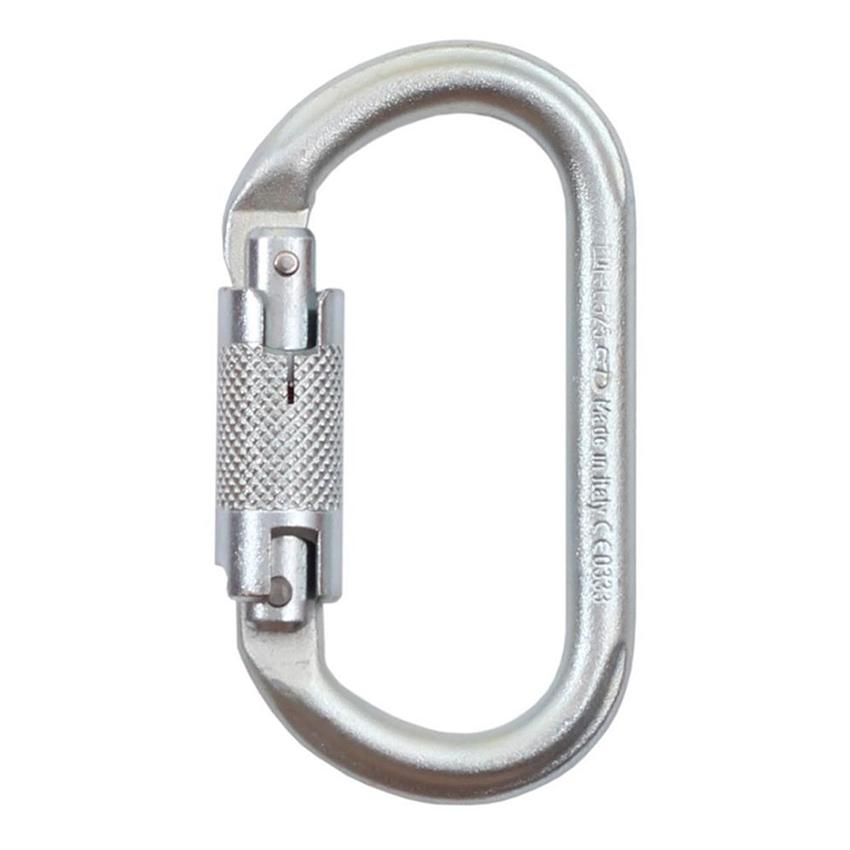 karabinek stalowy Climbing Technology Oval twist lock A424