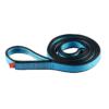 Zwinięta błękitno-szara pętla poliamidowa Ocun o-sling PAD o długości 100 cm i szerokości 16 mm