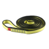 Zwinięta seledynowo-szara pętla poliamidowa Ocun o-sling PAD o długości 120 cm i szerokości 16 mm