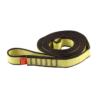 Zwinięta żółto-brązowa pętla poliamidowa Ocun o-sling PAD o długości 120 cm i szerokości 19 mm