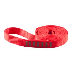 Zwinięta czerwona pętla Protekt AZ 900 o szerokości 20 mm