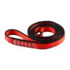 Zwinięta czerwono-szara pętla poliamidowa Ocun o-sling PAD o długości 80 cm i szerokości 16 mm