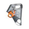 przyrząd do podchodzenia na linie, srebrny z pomarańczową zapadką, Climbing Technology Chest Ascender Plus