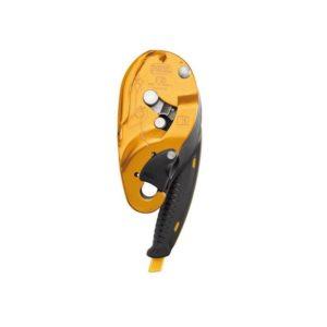Żółty przyrząd zjazdowy Petzl I'D S