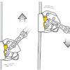 Schemat swobodnego przesuwania się wzdłuż liny przyrządu Petzl Asap Lock