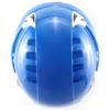 Niebieski kask przemysłowy Montana Protekt od góry, pokazanie spełnienia normy EN 397