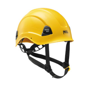 Żółty kask przemysłowy bez wentylacji Petzl Vertex Best