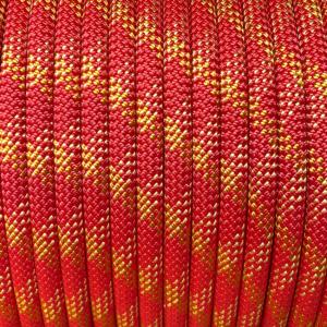 czerwona lina nawinięta na bęben, lina dynamiczna 10 mm marki Tendon