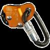 przyrząd autoasekuracyjny włoskiej marki Kong, sprzedawany razem z karabinkiem owalnym z zamkiem typu twist lock