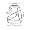 Łącznik Beal Flat Link - wymiary