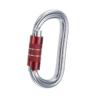 karabinek o owalnym kształcie, alumiony z czerwonym zamkiem typu twist lock marki Camp 2lock
