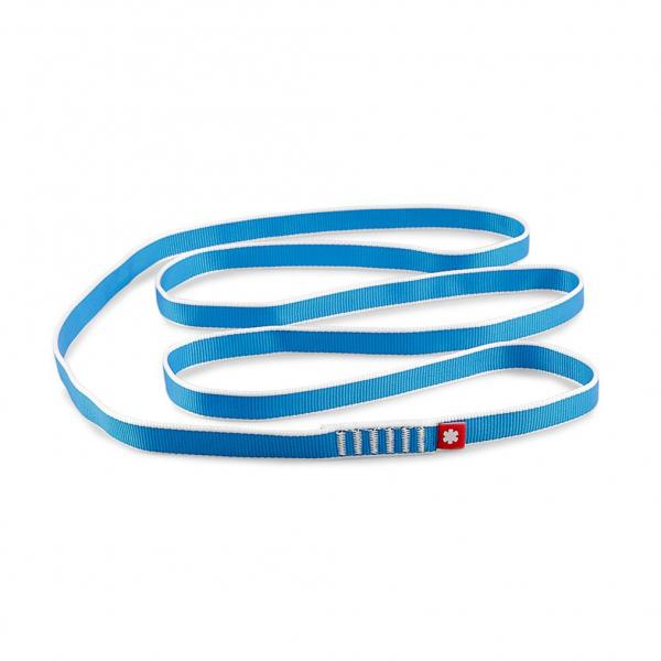 niebieska pętla marki Ocun, szerokośc 20 mm, długość 120 cm