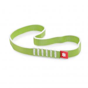 zielona pętla o szerokości 20 mm, po złożeniu ma długość 30 cm, Ocun Tubular