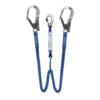 lonża z dwoma elastycznymi ramionami, ramiona zakończone karabinkami o duzym prześwicie - tzw. MGO, haki, AZ023