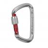 aluminiowy karabinek D-kształtny z czerwonym ramieniem zamka marki Climbing Technology