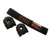 czarna krótka lonża z dwoma gumkami typu multi anti slip