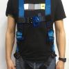 szelki bezpieczeństwa Irudek Wind Blue na modelu