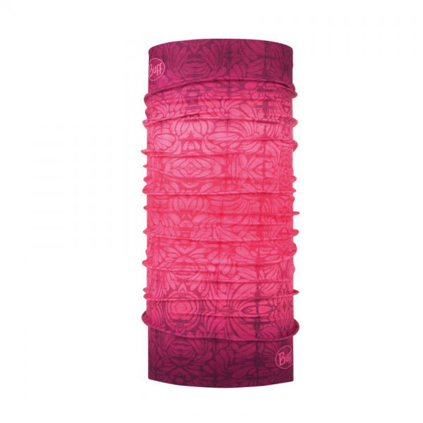 komin Buff w dziewczęcy wzór w odcieniach fioletowo - różowych