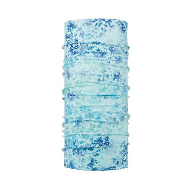 komin marki Buff w zimowy wzór w niebieskich barwach