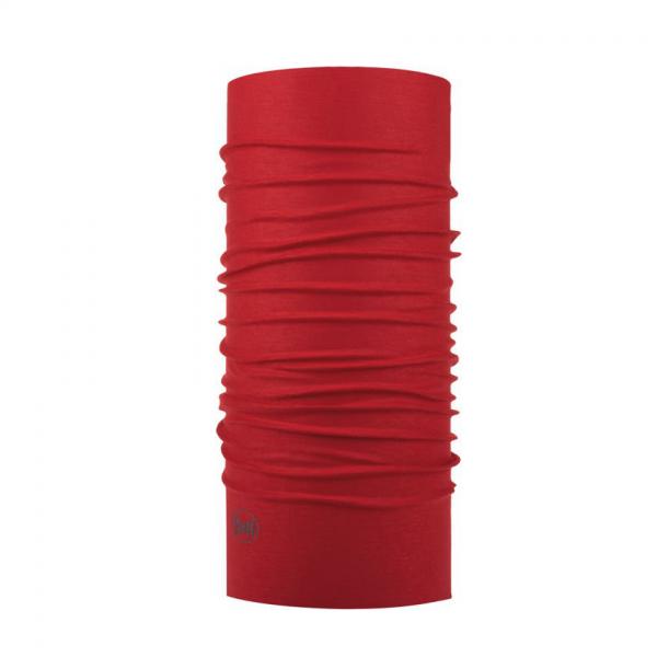 komin Buff w jednolitym głębokim czerwonym kolorze