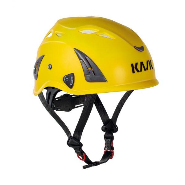 kask do pracy na wysokości zgodny z normą EN 397 Plasma AQ KASK w kolorze żółtym