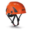 bardzo wygodny kask do pracy na wysokosci KASK Plasma AQ w widocznym pomarańczowym kolorze